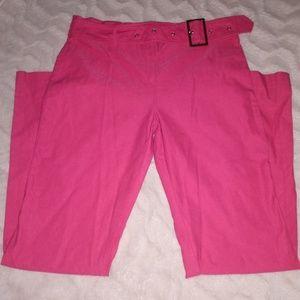 Hot pink pants!
